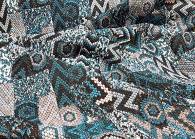 Μπλέ πετρόλ ίντικο πλεκτο ζακάρ Ολλανδίας για φόρεμα ζακέτα μπλούζα