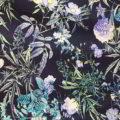 Καμπαρντίνα εμπριμέ μπλε-μοβ