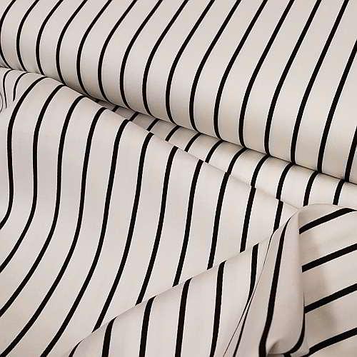 Καμπαρντίνα λευκή με μαύρη ρίγα