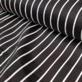 Καμπαρντίνα ριγέ ελαστική μαύρη άσπρη