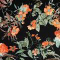 Καμπαρντίνα εμπριμέ μαύρο-πορτοκαλί