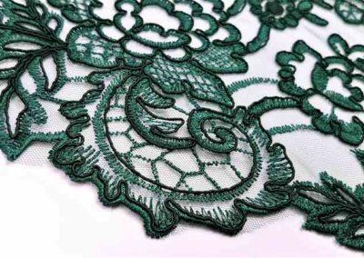 Δαντέλα πράσινη με διπλό τελέιωμα