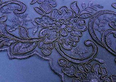 Δαντέλα κορδονέ μπλε με διπλό τελείωμα