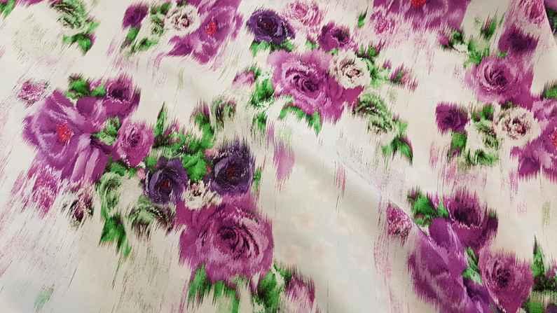 Βισκόζι εμπριμέ ψηφιακής εκτύπωσης σε φούξ πράσινο χρώμα