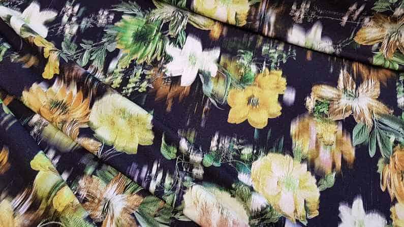 Bamboo digital print ατσαλάκωτο υποαλεργικο λαιμ κιτρινο πράσινο