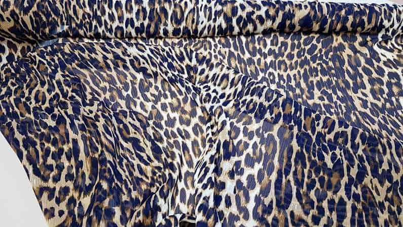 Μουσελίνα με τύπωμα leopard animal